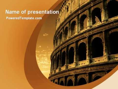 colosseum powerpoint templatepoweredtemplate - youtube, Modern powerpoint