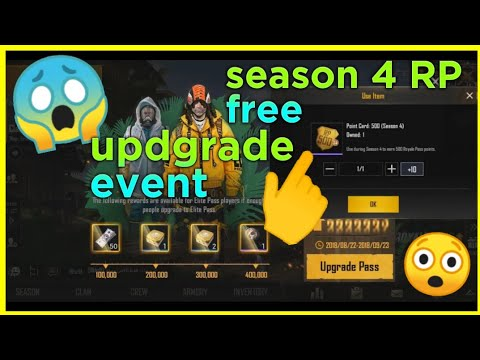 PUBG Mobile Elite Pass Special Event Free Season 4 RP, 50UC, Special Crates And Pans !!