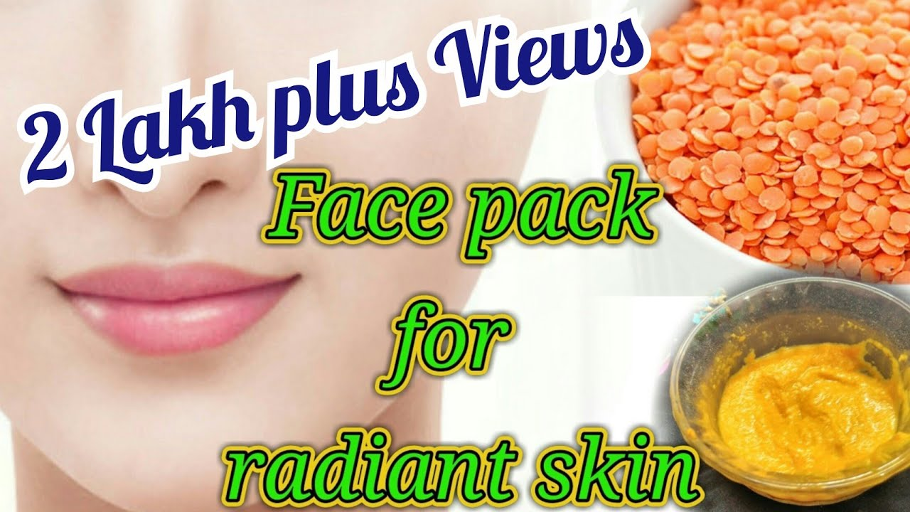 Masoor daal face pack for glow and radiant skin