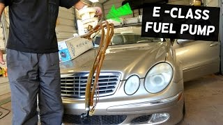 mercedes w211 fuel pump removal and replacement e200 e230 e240 e280 e320 e350 e500 e550 e55 e63