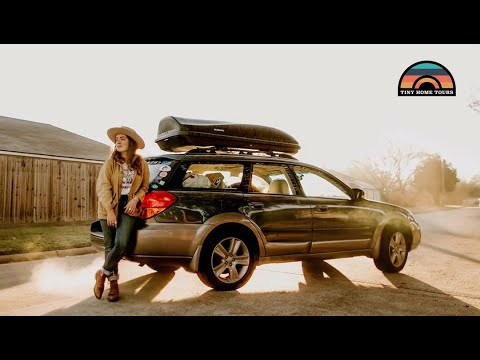 She LIVES IN HER CAR To Pursue HER LIFE On The Road - Subaru Camper Conversion