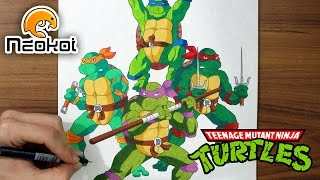 Drawing Teenage Mutant Ninja Turtles | Dibujando Las Tortugas Ninja