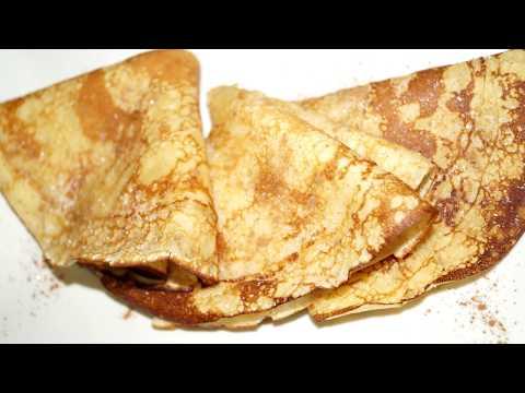 Crepes dulces Receta de masa PERFECTA | Crepas dulces tradicionales