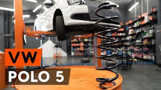 How to replace Suspension springs on VW POLO Saloon - video tutorial