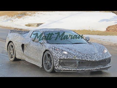 New Mid-Engine C8 Corvette Spy Shots with Production Lights!