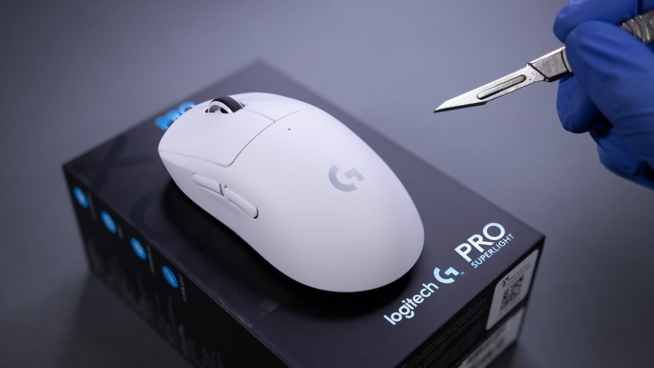 Logitech G Pro X Superlight Wireless Gaming Mouse Unboxing - ASMR