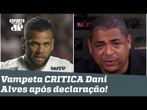 """""""Ele joga MUITO, mas..."""" OLHA o que Vampeta falou de Daniel Alves após polêmica declaração!"""