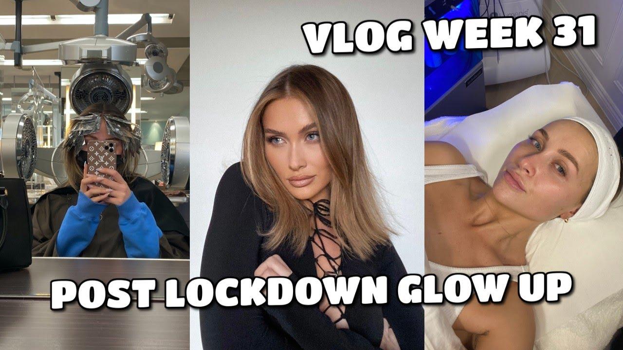 VLOG  | GLOW UP WEEK! HAIR, NAILS, FACE & MORE