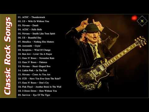 ACDC, U2, Nirvana, Metallica Greatest Hits | Best Classic Rock Songs