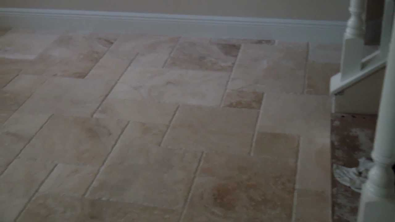 French pattern travertine tile on french pattern installed by french pattern travertine tile on french pattern installed by stone mart tile installers youtube dailygadgetfo Choice Image