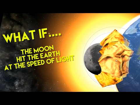 WHAT IF THE MOON HIT THE EARTH AT THE SPEED OF LIGHT