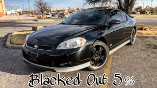 5% Blackout Tint On The Monte Carlo SS
