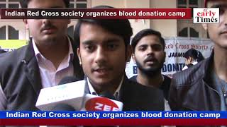 Indian Red Cross society organizes blood donation camp