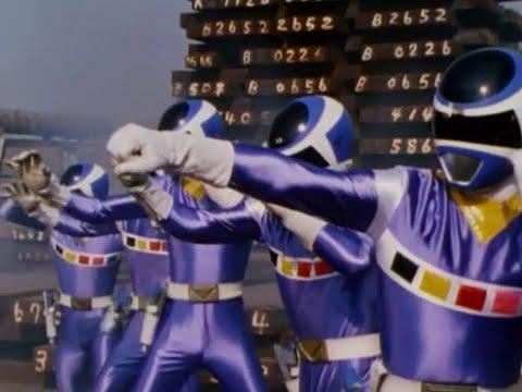 Power Ranger En El Espacio | 5 Blue Space Rangers y Psycho Silver