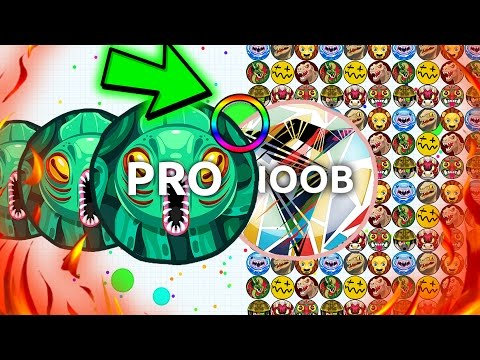 Agar.io - 1 POPSPLIT KING vs. 1000 NOOBS! // GREATEST AGARIO TROLLING AND HACKED MOMENTS!
