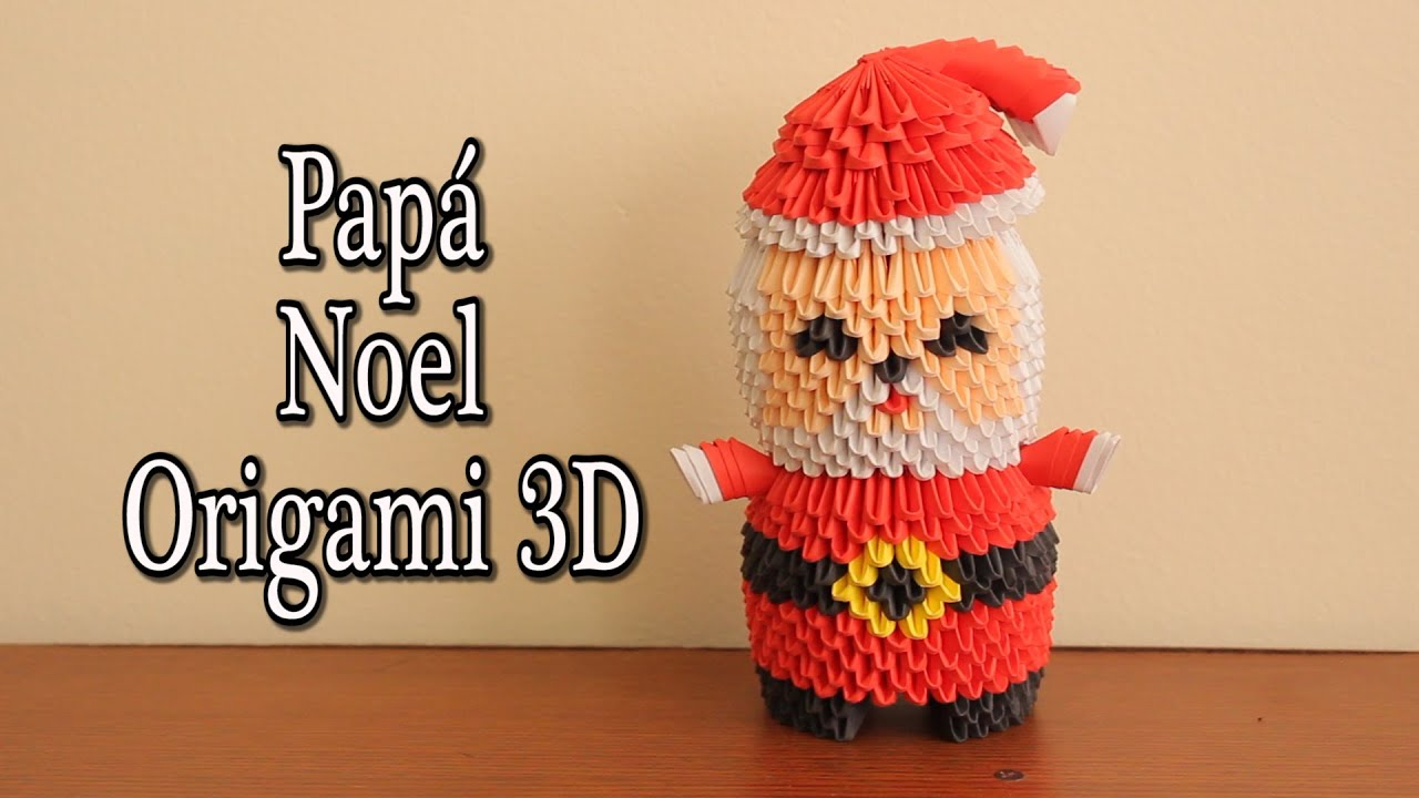santa claus en origami 3d tutorial youtube. Black Bedroom Furniture Sets. Home Design Ideas