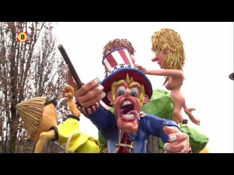 De optocht in Peejenland (Hoeven) tijdens carnaval 2017