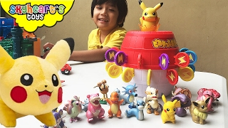 Pikachu Pop-Up Pirate game - Tomy Pokemon toys figures for kids family game playtime