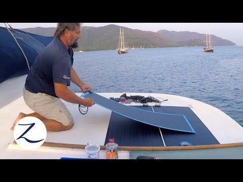 DIY: Solar Power Installation - How to Install Solar on a Boat / (Sailing Zatara Z-Log)