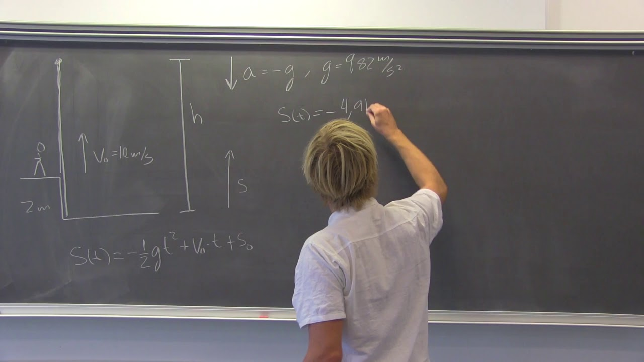 Kinematik - eksempel på lodret kast