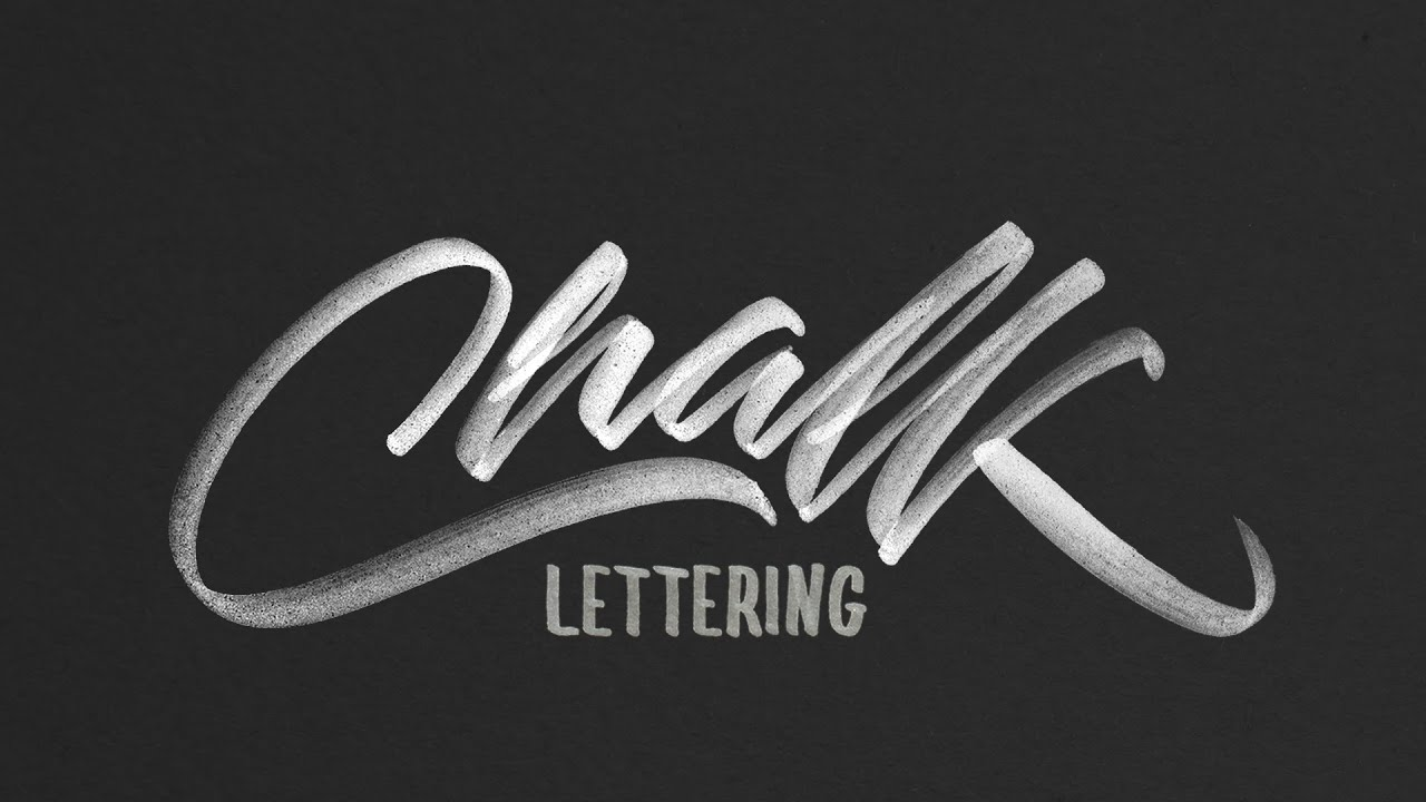 hand lettering tutorial for beginners chalk texture youtube