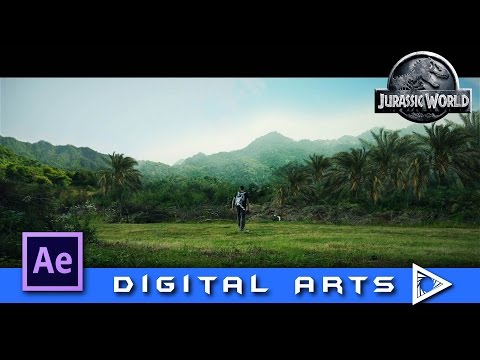 After Effects Jurassic World Style Mattepainting Tutorial GERMAN