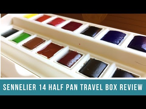 Sennelier 14 Half Pan Travel Box Review Part 1 | First Impressions and Modifications