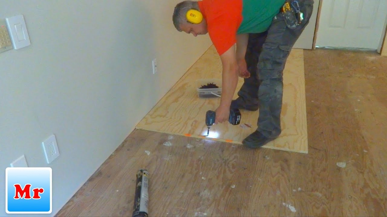 How To Make Subfloor Leveling With Plywood And Concrete Self