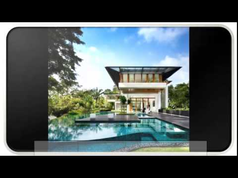 blue modern tropical house design - Modern Tropical House Design