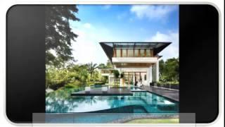 Blue Modern Tropical House Design