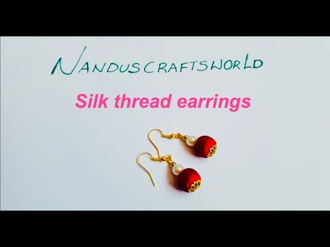 silk thread earrings   thread earrings    How to make silk thread earrings