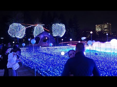 TOKYO【Christmas Lights】TOKYO MIDTOWN 2018. #4K #東京ミッドタウン