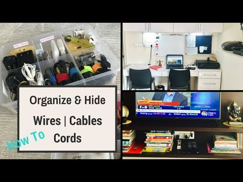 How To Organize and Hide Wires, Cables, Cords and Electrical Parts In Small Space