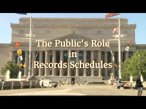 The Public's Role in Records Schedules