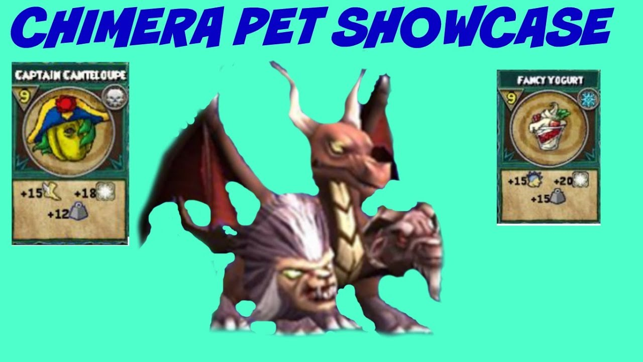 Wizard101: Chimera Pet Showcase With Commentary