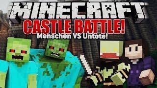 UNTOTE GEGEN MENSCHEN! Minecraft CASTLE SIEGE! mit Zombey | ungespielt