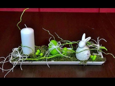 Jak Zrobić Stroik Wielkanocny Ze świecą Zając Na Zielonej Trawce