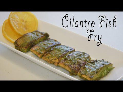 Cilantro Fish Fry Recipe   Healthy Fish Fry Recipe