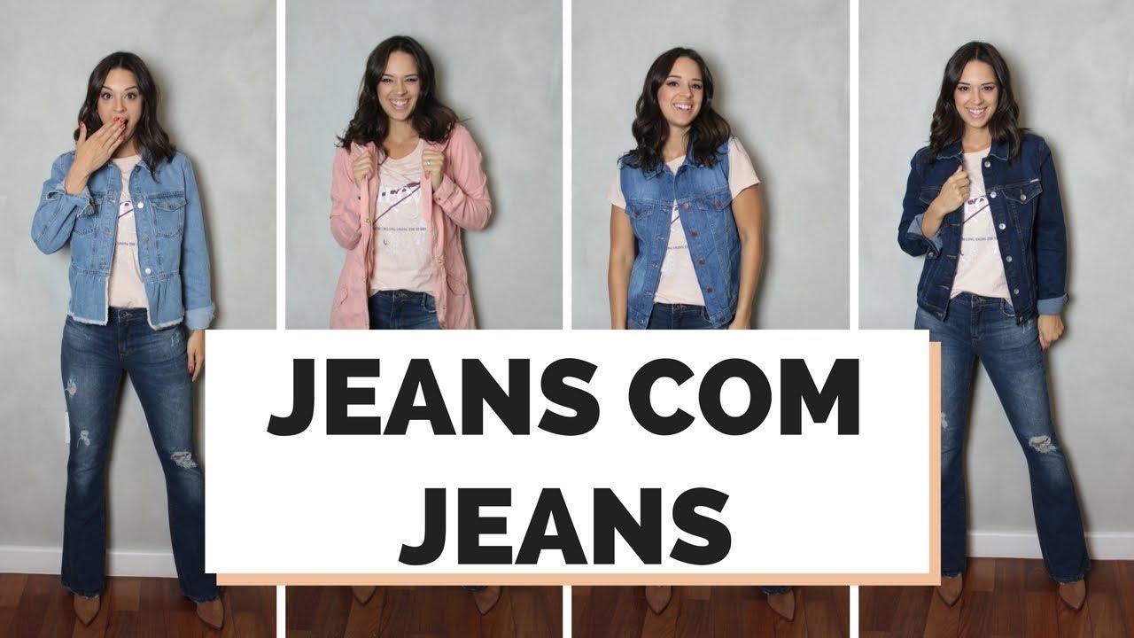42f851832 8 LOOKS JEANS COM JEANS - COMO COMBINAR   MARI FLOR - YouTube