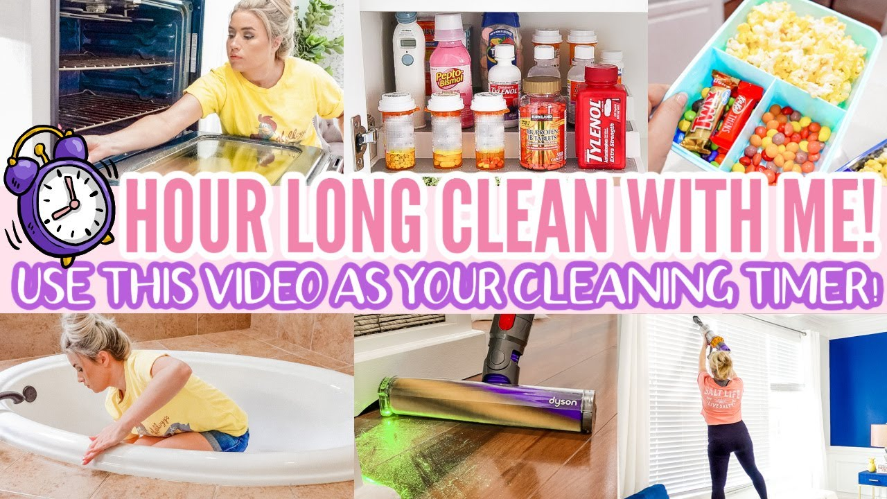 1 HOUR LONG CLEAN WITH ME   SPEED CLEANING MOTIVATION   CLEANING MUSIC   Love Meg