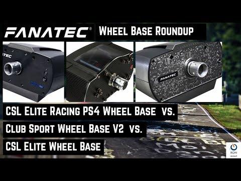 Fanatec Wheel Base Review | CSL Elite vs. CSL Elite Racing PS4 vs. CSW V2 [deutsch|english CC]