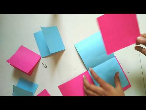 Square card  beautiful opening tutorial...for greeting card for friends...in marathi
