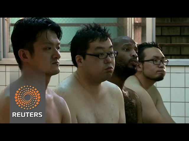 Tokyo bath house offers naked lectures to customers