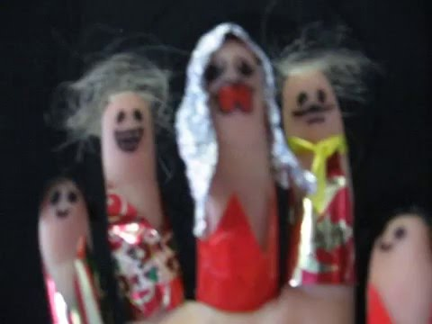 finger puppets 'Lithuanian tulip dancers' sing happy birthday