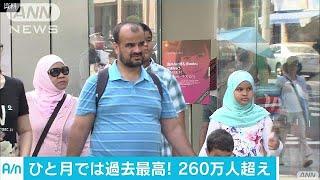 7月に日本を訪れた外国人旅行者260万人超 過去最高(17/08/16)
