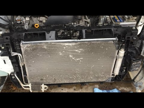 how to replace radiator and radiator support nissan maxima. Black Bedroom Furniture Sets. Home Design Ideas