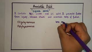 Amniotic Fluid - made easy