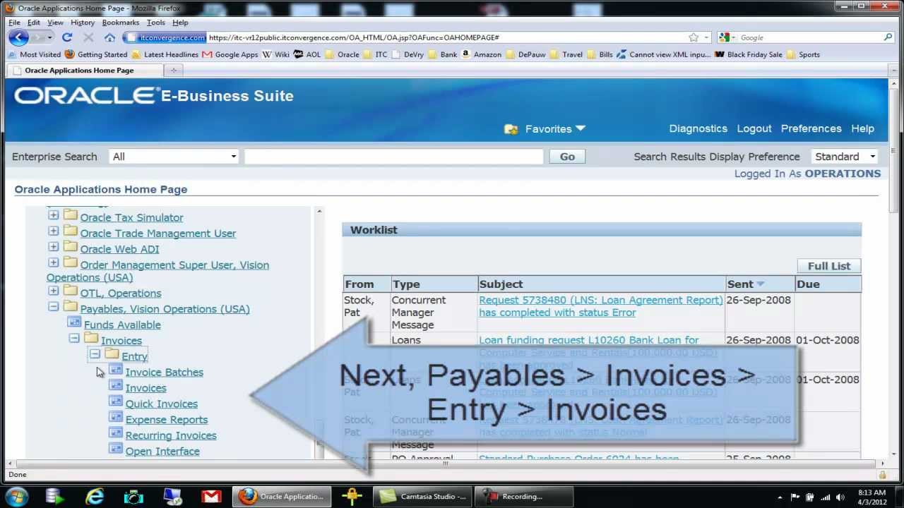 How To Do Manual Invoice Entry In Oracle Accounts Payable