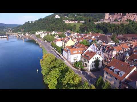 Heidelberg, Germany - 4k Drone Footage