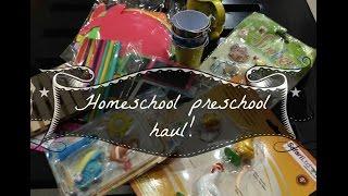 Mini Homeschool preschool supplies haul!